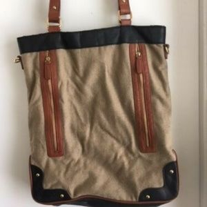 Urban Outfitters Tote - Tan, Brown, and Black